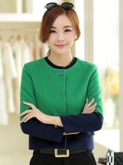 เสื้อคลุมใส่ทำงานสีเขียว แขนยาว ผ้าสักหลาด เนื้อผ้าดีมาก